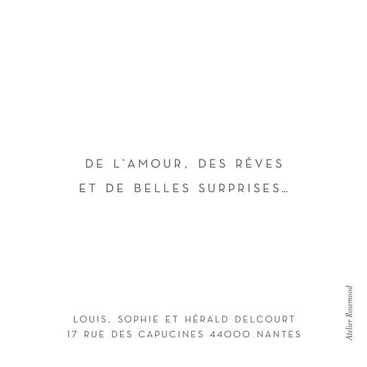Carte de voeux Petit élégant cœur (dorure) blanc - Page 2
