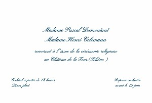 Carton d'invitation mariage avec photo traditionnel blanc
