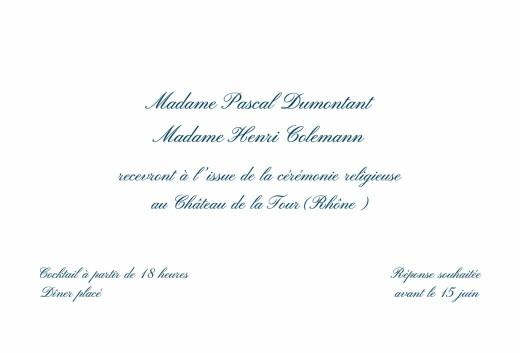 Carton d'invitation mariage Traditionnel blanc