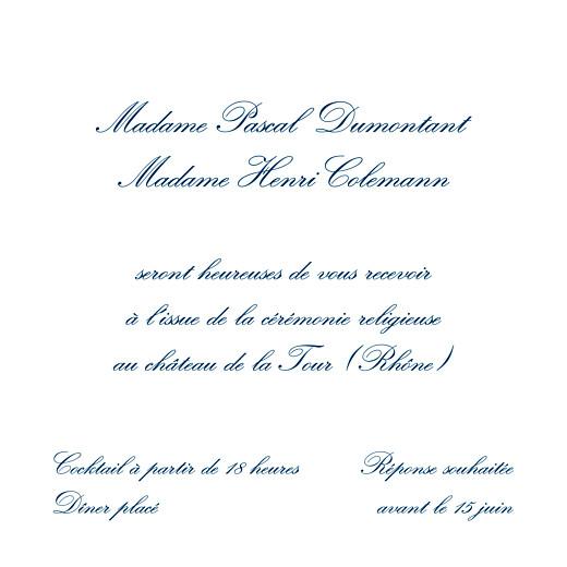 Carton d'invitation mariage Grand traditionnel blanc