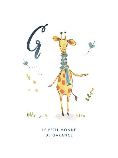 Affiche Abc… girafe bleu - Page 1