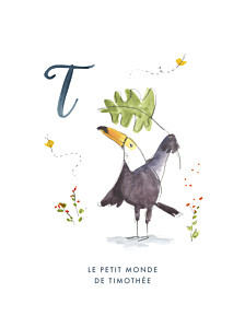Affiche abc… toucan bleu
