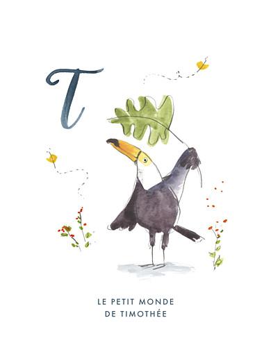 Affichette Abc… toucan bleu - Page 1