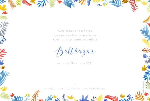 Faire-part de naissance Balade en forêt blanc - Page 2