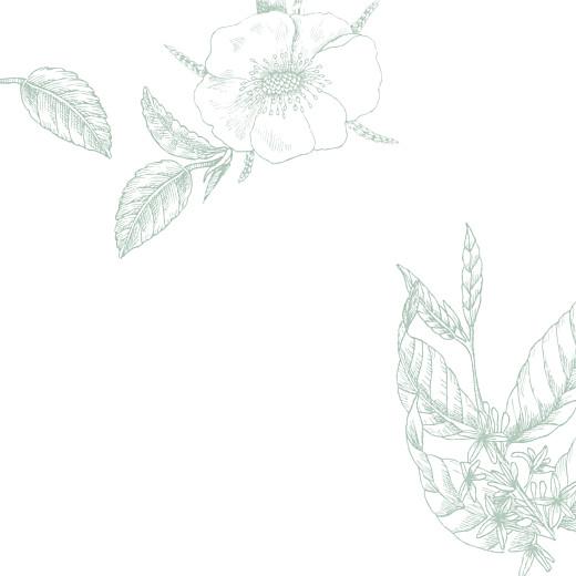 Faire-part de mariage Gravure simple (4 pages) vert - Page 2