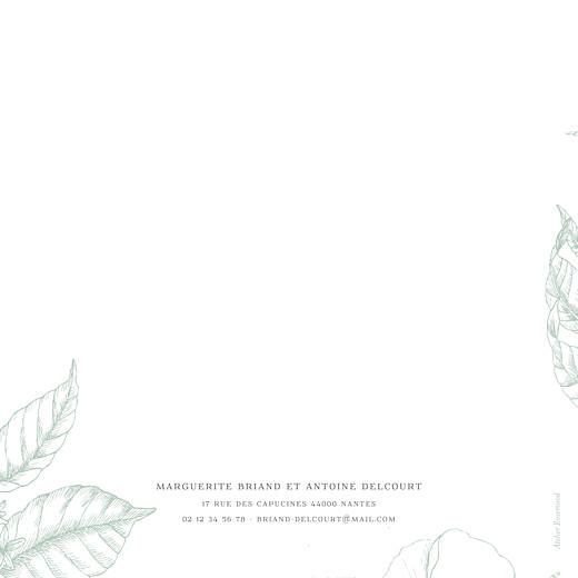 Faire-part de mariage Gravure simple (4 pages) vert - Page 4