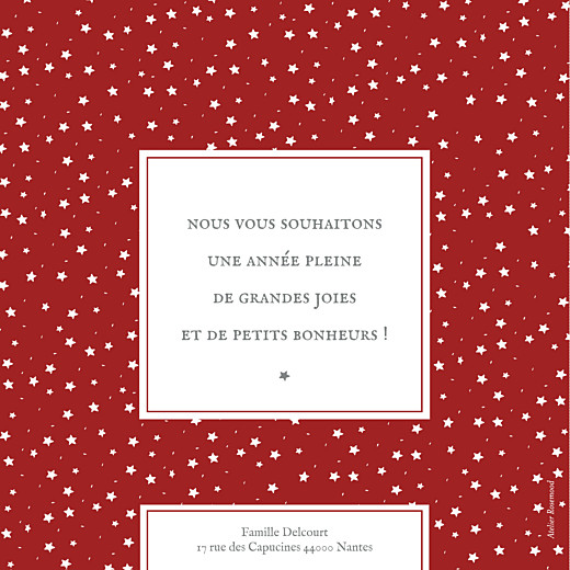 Carte de voeux Souvenir 8 photos rouge - Page 2