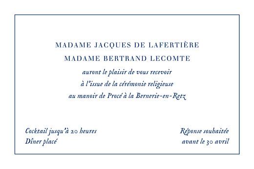 Carton d'invitation mariage Nature chic bleu - Page 2