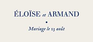 Etiquette de mariage classique nature chic bleu