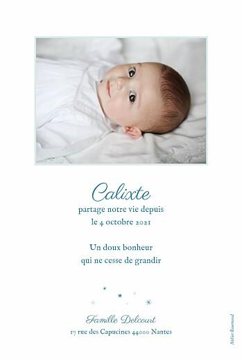 Faire-part de naissance Douceur céleste bleu - Page 2