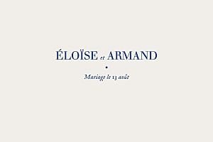 Carton d'invitation mariage Nature chic (dorure) bleu