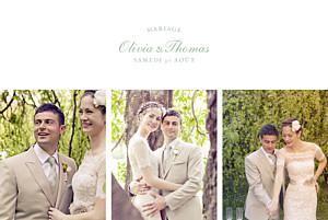 Carte de remerciement mariage Mille fougères vert