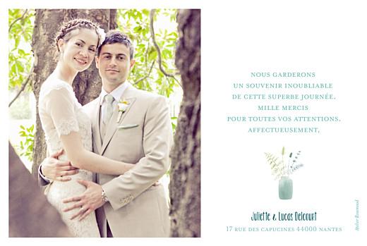 Carte de remerciement mariage Bouquet sauvage photo rose - Page 2