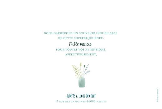 Carte de remerciement mariage Bouquet sauvage bleu - Page 2