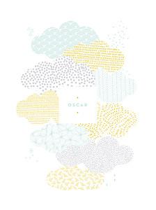 Affiche Sur un petit nuage mixte