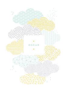 Affichette mixte sur un petit nuage mixte