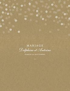 Faire-part de mariage traditionnel polka portrait kraft