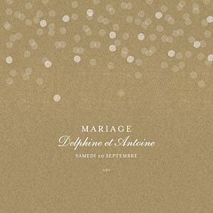 Faire-part de mariage marron polka kraft
