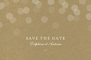 Save the date classique polka kraft
