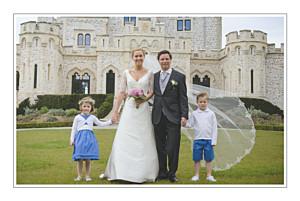 Carte de remerciement mariage gris chic liseré gris foncé