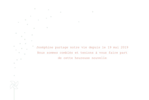 Faire-part de naissance Moulin à vent (4 pages) vert pâle - Page 3