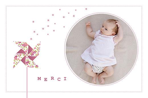 Carte de remerciement Moulin à vent photo rose
