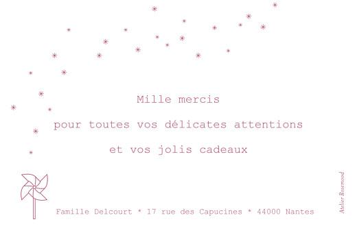 Carte de remerciement Moulin à vent photo rose - Page 2