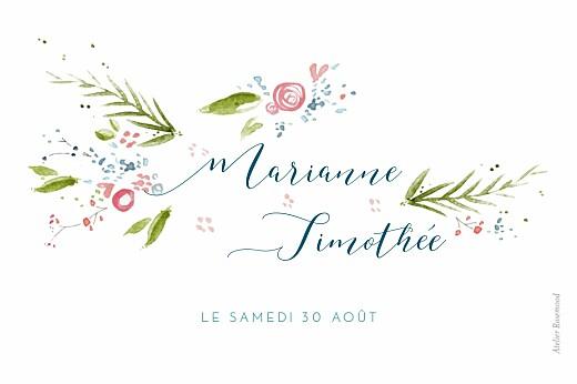 Marque-table mariage Journée de printemps blanc - Page 2