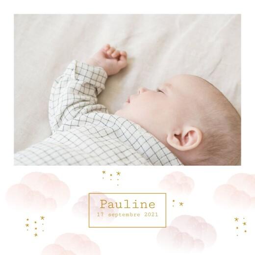 Faire-part de naissance Brume rose