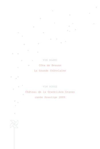 Menu de baptême Moulin à vent (4 pages) vert pâle - Page 2