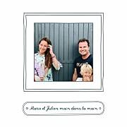 Carte de voeux Portraits de famille bleu page 2