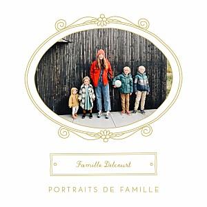 Carte de voeux Portraits de famille jaune