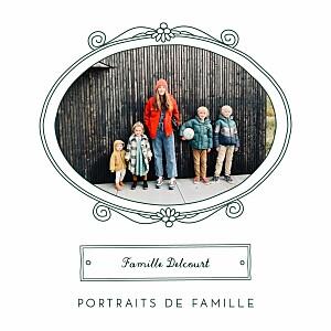 Carte de voeux Portraits de famille vert