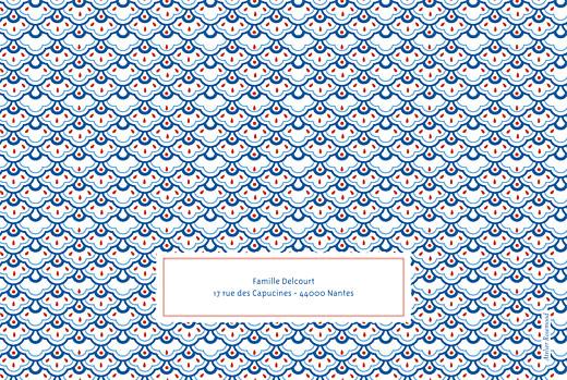 Faire-part de naissance Pattern paysage 2 photos rouge bleu - Page 4