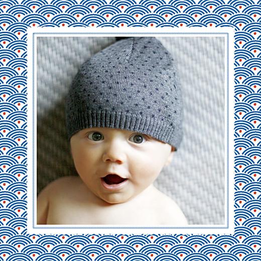 Faire-part de naissance Petit pattern (triptyque) bleu, blanc & rouge - Page 3