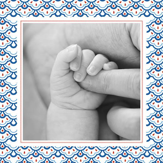 Faire-part de naissance Petit pattern (triptyque) bleu, blanc & rouge - Page 6