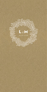 Menu de mariage marron gypsophile (4 pages) kraft