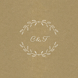 Carton d'invitation mariage kraft poème kraft