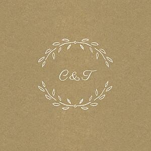 Carton d'invitation mariage tous genres poème kraft