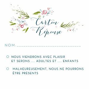 Carton réponse mariage blanc journée de printemps (carré) blanc