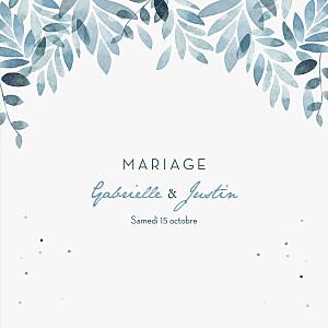 Faire-part de mariage design nuit d'été (4 pages) bleu