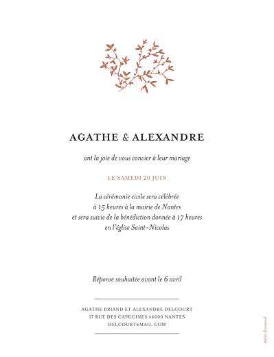 Faire-part de mariage Reflets dans l'eau portrait rouge - Page 2