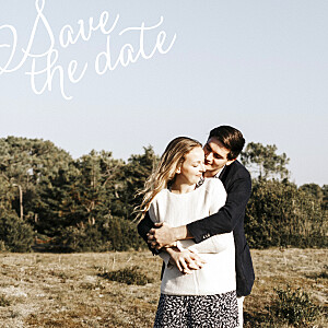 Save the date moderne un grand jour blanc