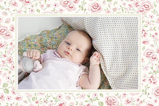 Carte de remerciement Merci félicité photo rose