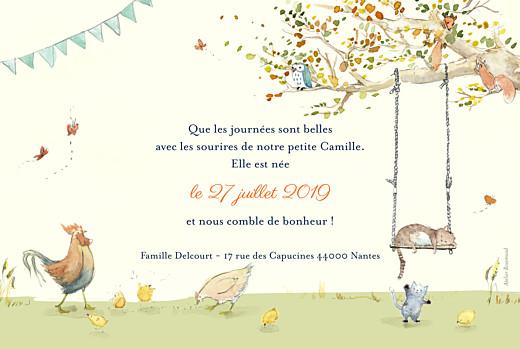 Faire-part de naissance Conte champêtre (rv) vert - Page 2