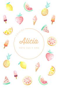 Carte d'anniversaire Summer pattern photo orange