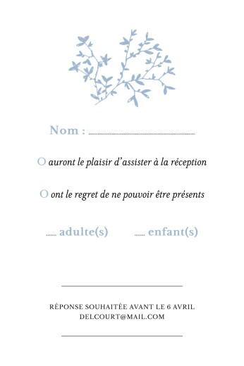 Carton réponse mariage Reflets dans l'eau bleu - Page 2