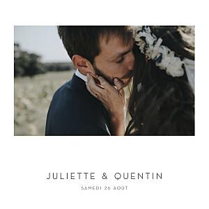 Faire-part de mariage photos élégant cœur (dorure) blanc