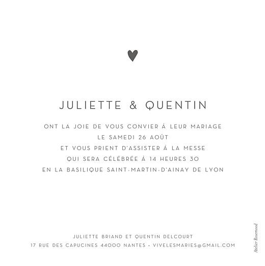 Faire-part de mariage Élégant cœur (dorure) blanc - Page 2