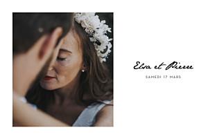 Faire-part de mariage photos un joli mot paysage blanc